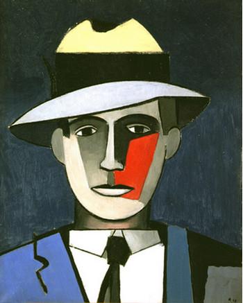 1943 L'Homme à la joue rouge 65 X49  . Copyright DR