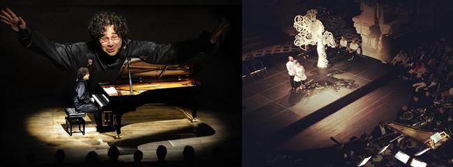 De gauche à droite : 18 juillet Pascal Amoyel, le pianiste aux 50 doigts ©Francis Campagnon  - 6 juillet : La_Flute enchantée Petite Symphonie et les Lunaisiens ©Florent Paillart