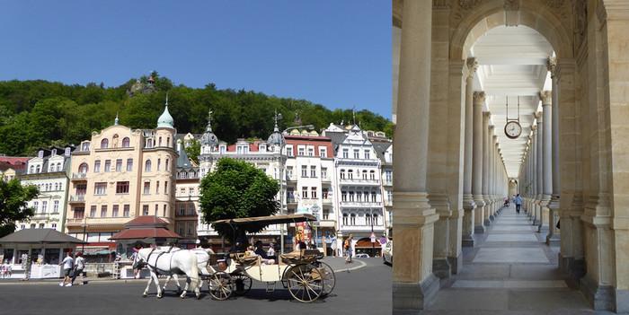De gauche à droite : balade Le long de la rivière Teplé  et Colonnade du Moulin  ©  C.Gary