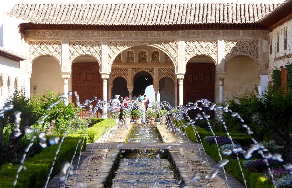 Grenade, jardins de l'Alhambra © C.Gary