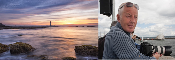 Exposition du photographe Ronan Follic et une vue magnifique sur l'ïle de Sein.@ Ronan Follic