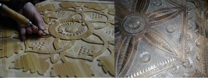 Musée du bois de Konjic. Travail d'un meuble (détail) © FS