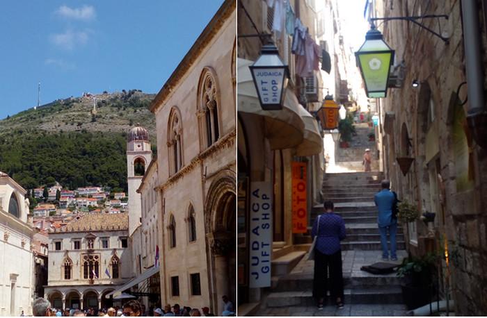 De gauche à droite : : Vieille ville de Dubrovnik. L'ancienne Raguse affiche encore des airs vénitiens… © FS; Ruelle adjacente au Stradun, l'artère majeure de la Vieille Ville de Dubrovnik © FS
