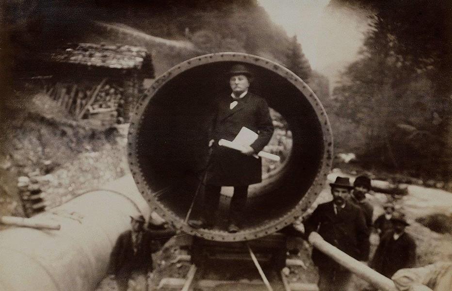 Guyer Zeller sur le chantier en 1897. @ DR