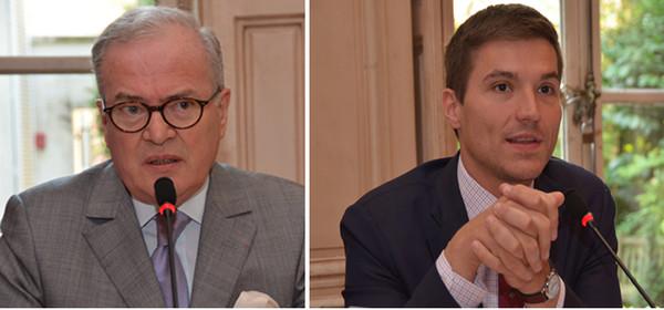 Christian Pierret , Président- fondateur du FIG  ; Didier Valence David Valence le maire de Saint-Dié-des-Vosges et conseiller régional du Grand Est. @ David Raynal