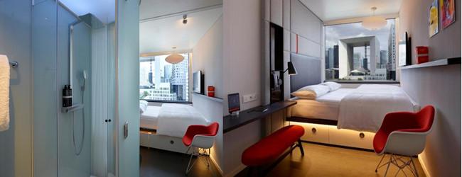 Douche à l'italienne et chambre confortable au CitizenM La Défense. @ Tripadvisor et RB