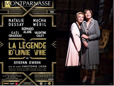 """Affiche du spectacle , Théâtre Montparnasse """"La Légende d'une vie"""", une  pièce méconnue de Stefan Zweig. @ J.Stey"""