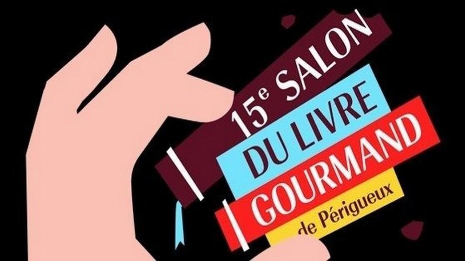 Affiche de la 15ème édition du Salon Internation du Livre et de la Gastronomie à Périgueux. Copyright SILG