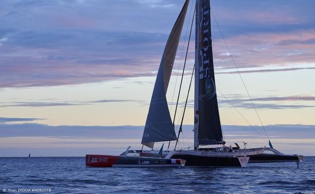 """Pour gagner cette course : """"Un bon bateau , un bon sponsor et bien sûr choisir très vite la bonne route.  il faut la totale pour gagner une Route du Rhum."""" Crédit photo DR"""