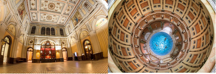 Les magnifiques mosaïques des thermes historiques du Friedrichsbad ©OT Allemagne