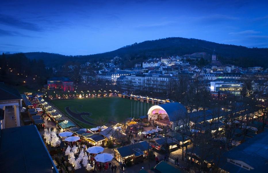 Vue d'ensemble sur Baden Baden et son magnifique marché de Noël © OT Baden-Baden