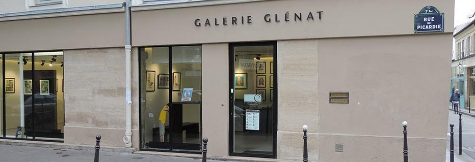 Devanture de la Galerie Glénat à Paris . @ DR