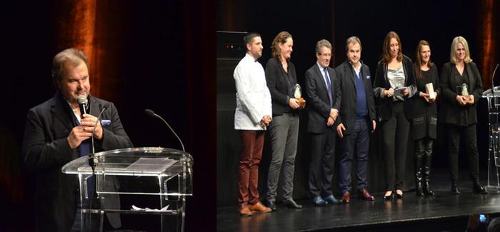 Lors du Salon du Livre Gourmand de Périgueux qui s'est déroulé du 23 au 25 novembre dernier, remise des prix par Pierre Hermé le président d'honneur de la manifestation. @ David Raynal
