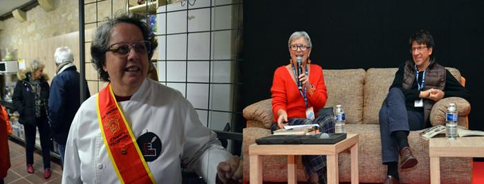 Lors du Salon du Livre Gourmand qui s'est déroulé à Périgueux de nombreux débats, érudits, ouverts et animés, avec la présence de nombreuses cheffes dont Hélène Martin et celle de  Eric Bilouez ... @ David Raynal