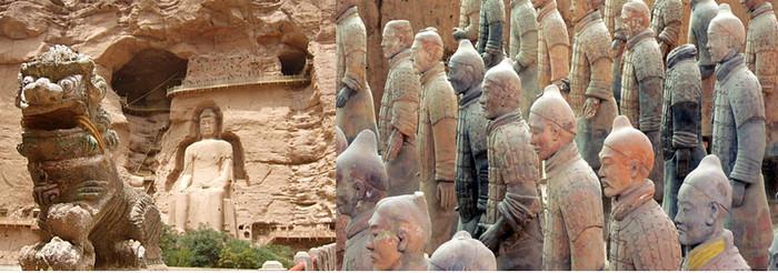 De xian à Samarcande tombeau de l'empereur Qin. Xi'an aujourd'hui mondialement connue pour son armée en terre cuite de l'empereur Qin. @Pixabay