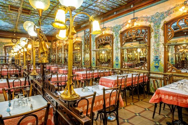 La salle de la brasserie Le Bouillon Chartier à Montparnasse;  @Bouillon Chartier