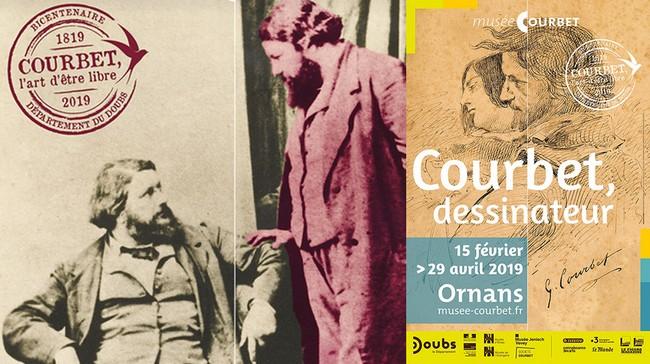 Affiche pour le bicentenaire de Courbet au Musée d'Ornans (Doubs) @ Musée d'Ornans