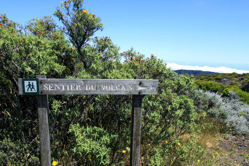 En route vers le volcan du Piton de la Fournaise