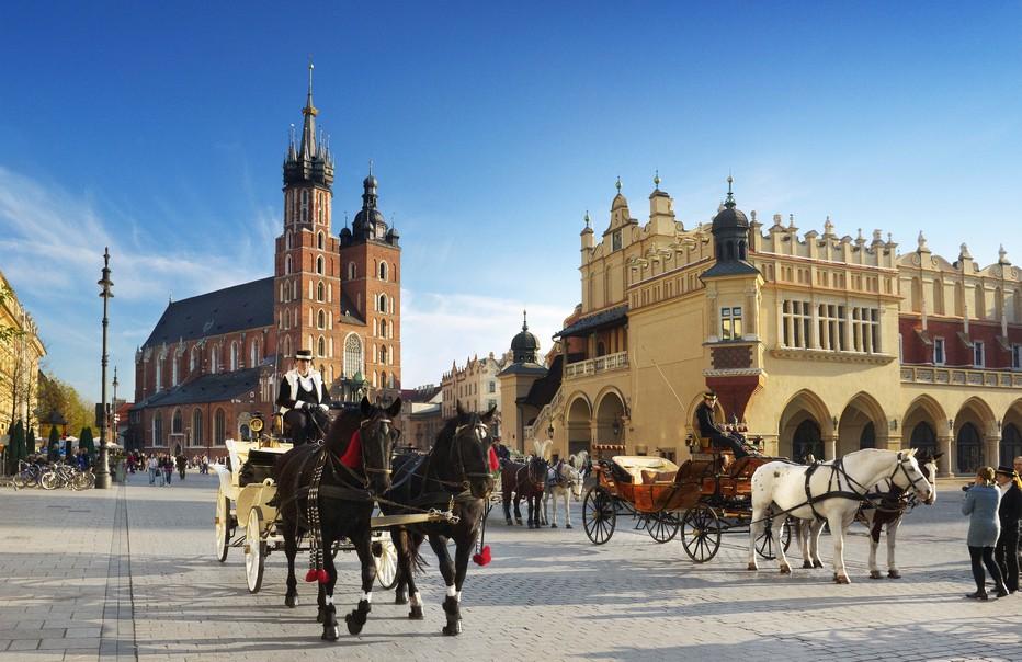 La ville de Cracovie est visitée chaque année par 13 millions de touristes du monde entier.@ O.T. Cracovie