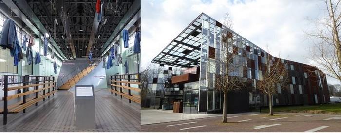 """De gauche à droite : Salle des """"pendus"""" site 9-9bis ; Le Métaphone. Site 9-9 bis. @ C.Gary"""