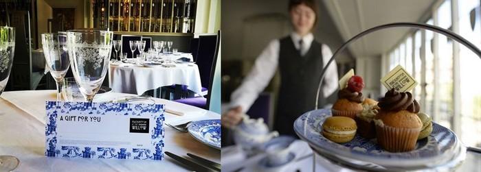 Les clients se délectent de pâtisseries britanniques, cakes, scones, shortbreads et autres brownies, dans de la fine porcelaine de Chine.Crédit photo Mackintosh at the Willow society.