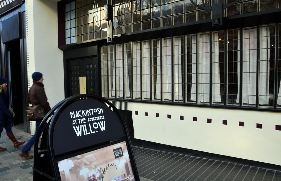 The Willow Tea room signifie la Maison de thé du saule, en référence au nom gaélique de l'avenue Sauchiehall où elle se trouve. Crédit photo David Raynal.