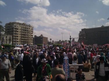 rassemblement des cairotes place Tahrir