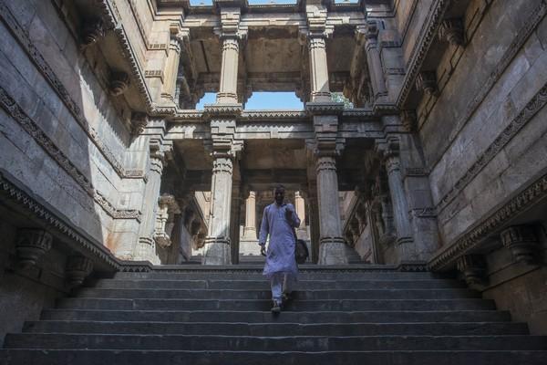 Ahmedabad Puits à degrés        .©Fabrice Dimier