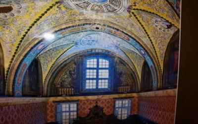 détail plafond de la sacristie