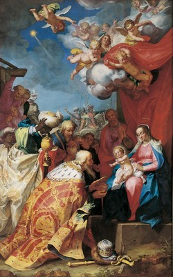 """ l'Adoration des Mages"" de Bloemaert"