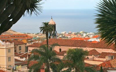 vue sur la ville de la Orotava au nord de Tenerife