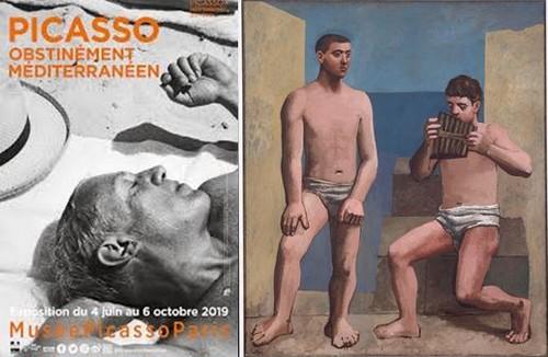 Affiiche expo et La flûte de Pan Picasso. @ RMN-Grand Palais -  Adrien Didierjean