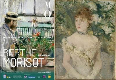 Affiche expo et Berthe Morisot_Jeune Femme en toilette de bal.jCopyright RMN-Grand Palais (Musée d'Orsay)_ Herné Lewandowski
