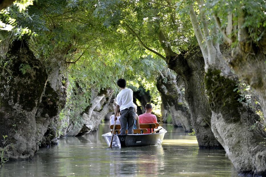 Balade en barque dans le Marais Poitevin @ DR