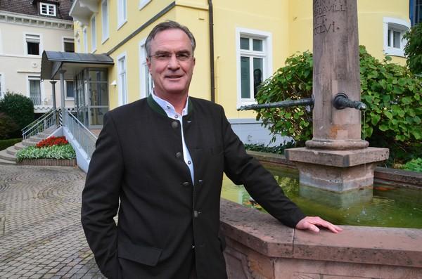 Karl-Eugen Engler, le maire de Badenweiler depuis 1991. Crédit photo David Raynal