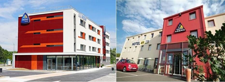 Créée en 1992 Akena, est une franchise hôtelière spécialisée dans la construction et la gestion d'hôtels 2 et 3 étoiles. Ici Akena Gaillac. @ DR