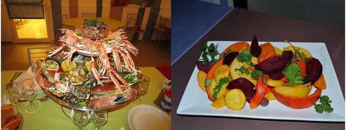 délicieux dîner préparé par Patrice Béranger, le chef cuisinier.@ 4Vents