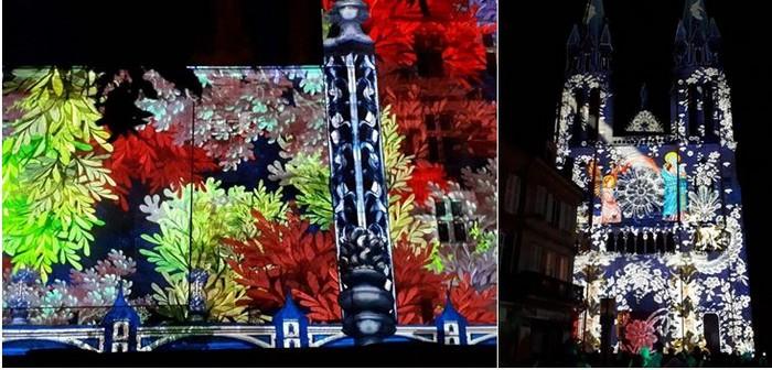 Tous les soirs  et jusqu'au 30 septembre,quatre lieux emblématiques de la ville sont mis en valeur grâce à une mise en lumière avec une approche qui pourrait s'appeler Si Moulins m'était conté.@ David Raynal