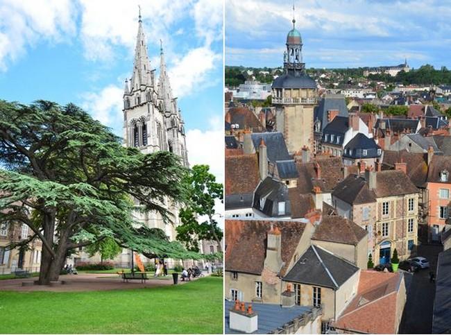"""Vue sur la """"Mal Coiffée"""" et sur les toits de cette ville de Moulins, riche en patrimoine historique. @ David Raynal"""