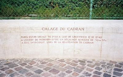 Inscription du cadran solaire des Halles (Crédit photo Arnaud Lemorillon)