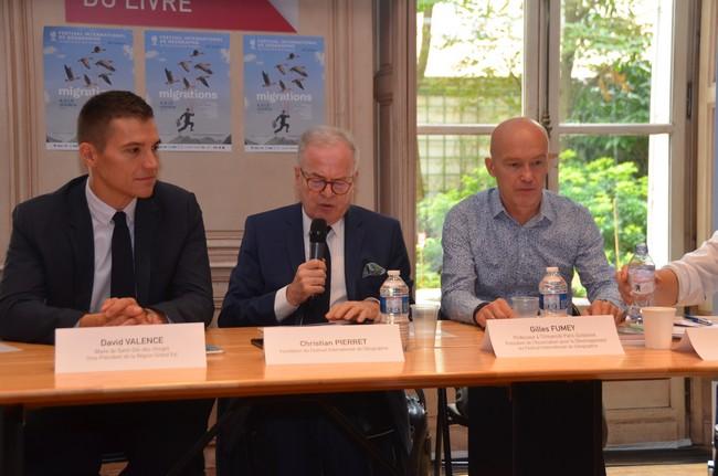 Conférence de Presse du Festival International de Géographie (FIG) dans les locaux du Centre National du Livre (CNL)  à Paris. @David Raynal