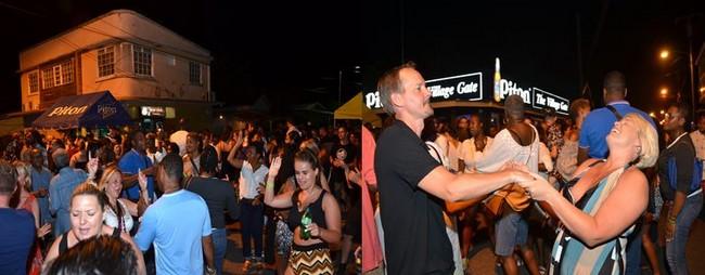 A l'occasion de la « Friday Night Party » habitants et touristes se mêlent et se rassemblent dans les rues devenues piétonnes pour faire la fête et danser en plein air. @ David Raynal