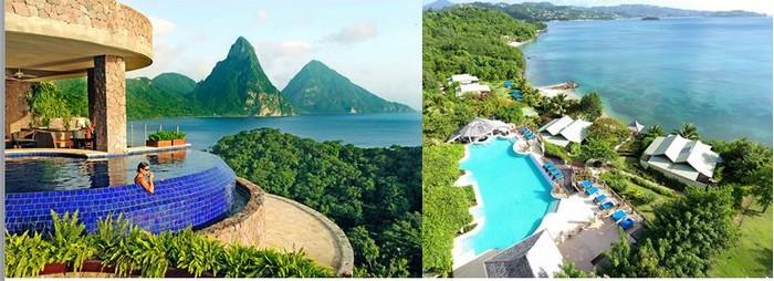Sainte-Lucie offre de nombreux hôtels-spas de luxe situés dans des endroits paradisiaques . @ David Raynal