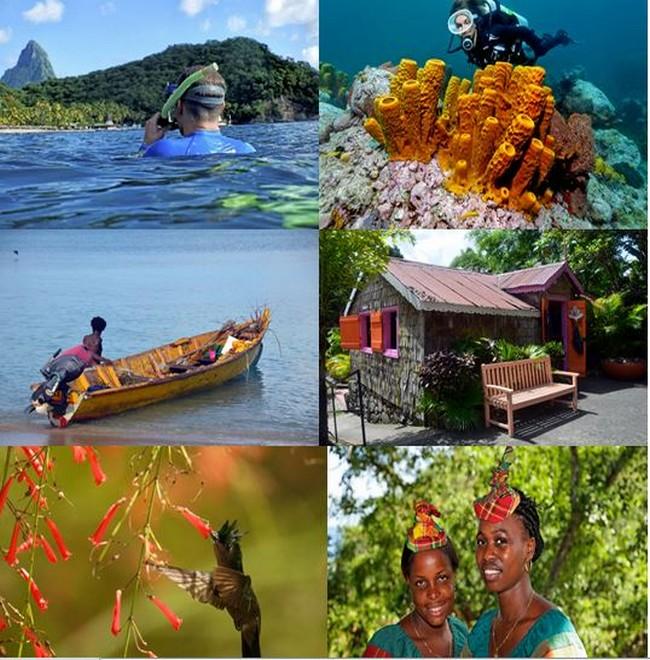 L'ïle de Sainte-Lucie offre aux visiteurs de nombreuses activités, un accueil exceptionnel et chaleureux, dans un décor paradisiaque. @ DR et David Raynal