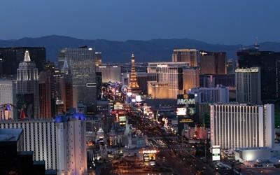 Vue sur les nombreux palaces de Las Vegas