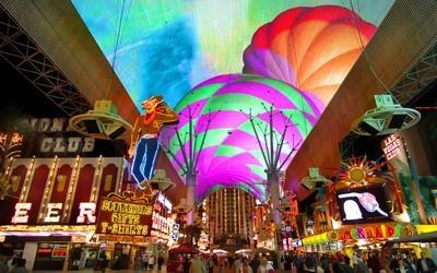Ambiance nocturne à Las Vegas