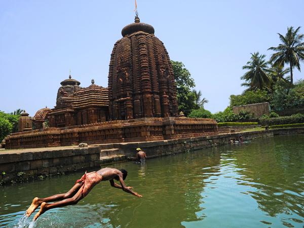 Temple de Mukteswara vu des ghats