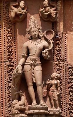 Divinité au Temple Rajarani