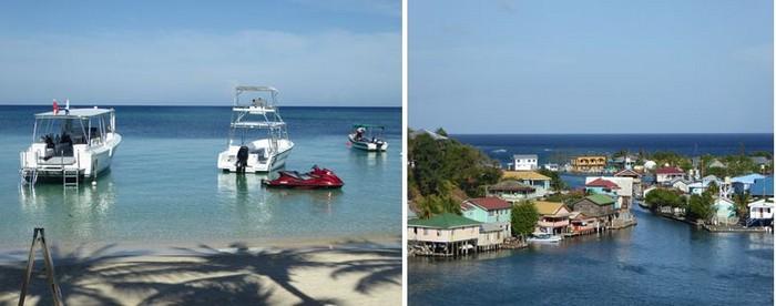 De gauche à droite : Plage de West Bay et Village de pêcheurs de Oak Ridge @ C.G.