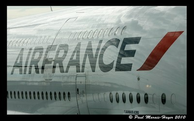 Le Super Jumbo arborant les couleurs d'Air France (Photo Paul Marais-Hayer)